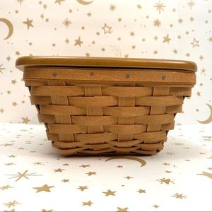 Longaberger | Small Square Flared Basket with Lid